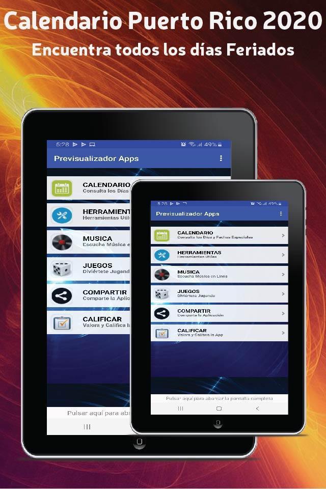 Calendario Puerto Rico 2020 Con Feriados Pour Android Telechargez L Apk