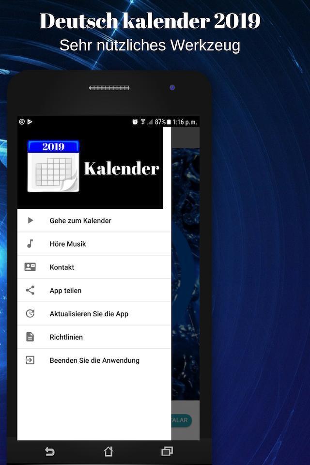 Deutsch Kalender 2019 Kostenlos Mit Ferien For Android Apk