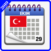 Türkiye takvimi 2019 icon
