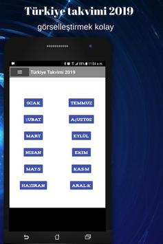 Türkiye takvimi 2019 screenshot 2