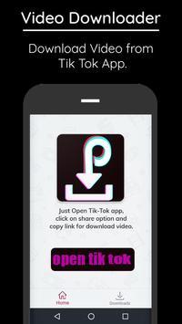 Video Downloader For Tik Tok poster
