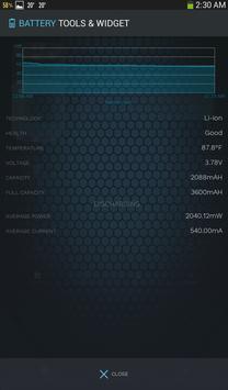 Bateria ferramentas e widget (poupança de bateria) imagem de tela 12