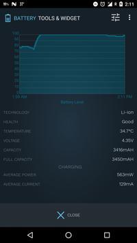 Bateria ferramentas e widget (poupança de bateria) imagem de tela 3