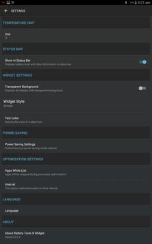 Bateria ferramentas e widget (poupança de bateria) imagem de tela 9
