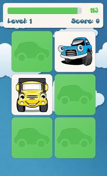 아이들을위한 자동차 메모리 게임 스크린샷 1