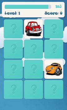 아이들을위한 자동차 메모리 게임 스크린샷 2