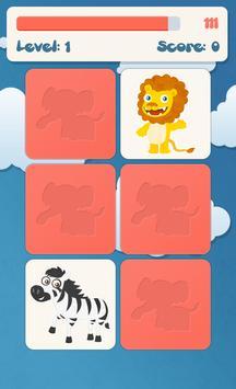 Animals memory game for kids screenshot 1