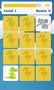 兒童記憶遊戲:動物 截圖 2
