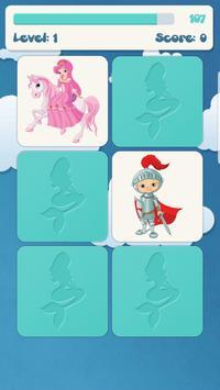 الاميرات لعبة الذاكرة للأطفال تصوير الشاشة 5