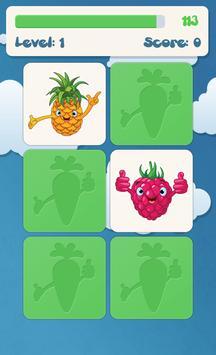 لعبة ذاكرة الفواكه للأطفال تصوير الشاشة 1