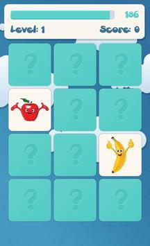 لعبة ذاكرة الفواكه للأطفال تصوير الشاشة 2