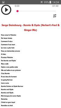 Chansons Serge Gainsbourg sans net (avec paroles) screenshot 4