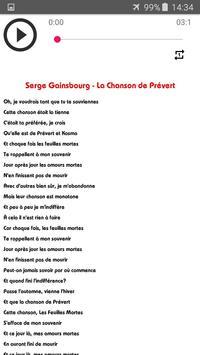 Chansons Serge Gainsbourg sans net (avec paroles) screenshot 1