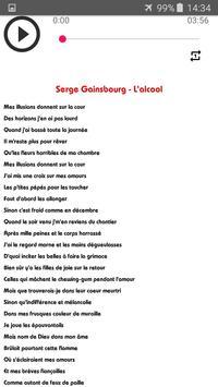 Chansons Serge Gainsbourg sans net (avec paroles) screenshot 2