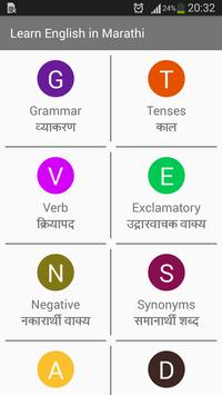 Learn English In Marathi poster