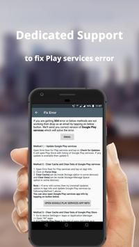 Error fixer for Play services 截图 2