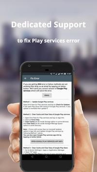 Error fixer for Play services 截图 2