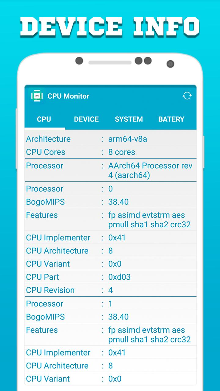 CPU Monitor - Full System Info for Android - APK Download