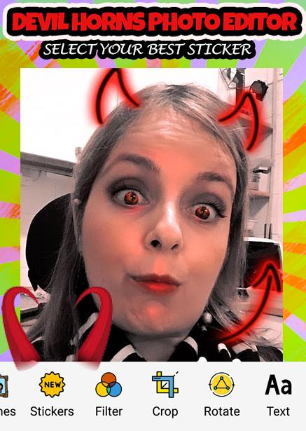 Neon Devil Horns Photo Editor For Snap Girls For Android Apk Download