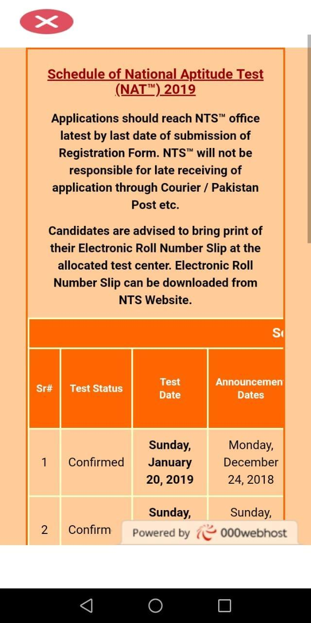 NTS-NAT Online Result for Android - APK Download