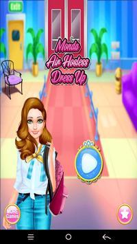 Monda Air Hostess Dress up poster