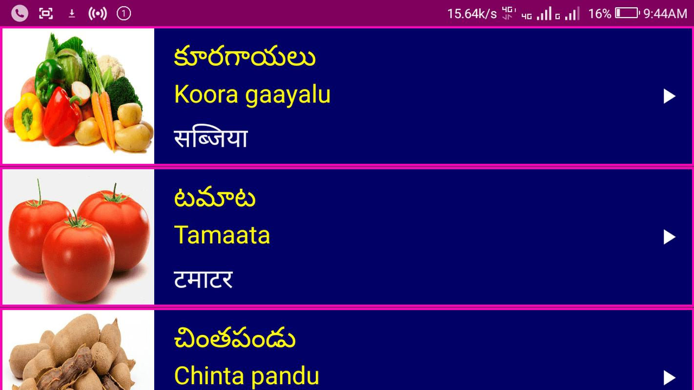Learn Telugu From Hindi For Android Apk Download