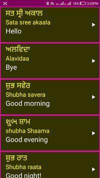 Learn Punjabi From English screenshot 3