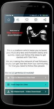 Tiko - Get fans & followers & likes tk الملصق