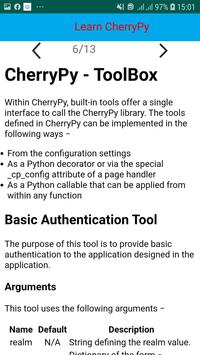 CherryPy Tutorial screenshot 5