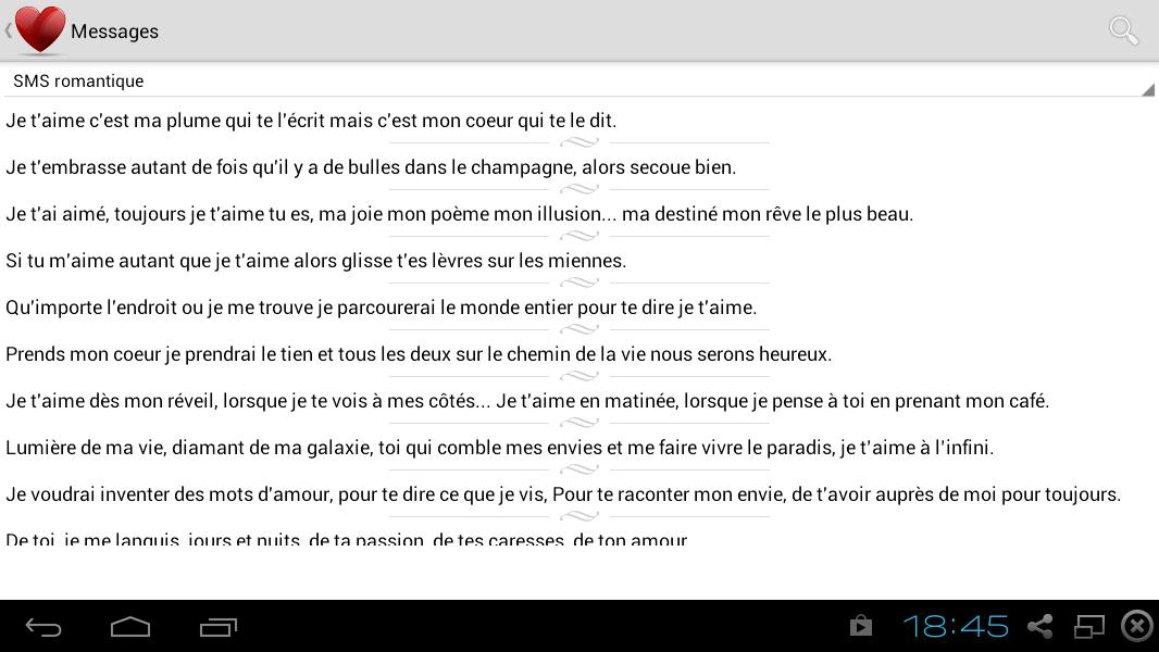 Mes Messages Romantiques For Android Apk Download