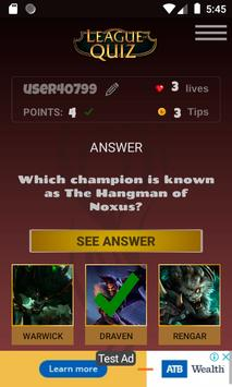 LeagueOfQuiz - See how much you know about lol screenshot 5