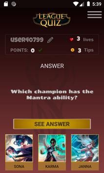 LeagueOfQuiz - See how much you know about lol screenshot 1