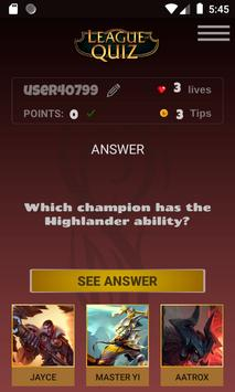 LeagueOfQuiz - See how much you know about lol screenshot 3