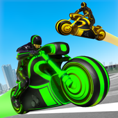 Light Bike Stunt Racing Game