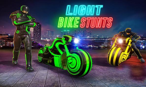 Light Bike Stunt Racing Game screenshot 4