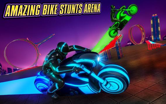 Light Bike Stunt Racing Game screenshot 6