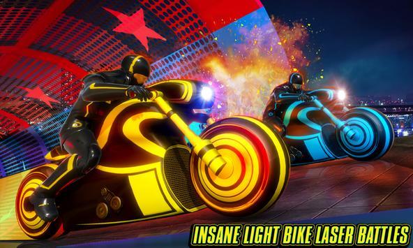 Light Bike Stunt Racing Game screenshot 2