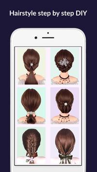 Hairstyles step by step easy, offline - DIY poster