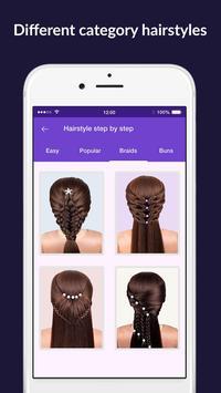 Hairstyles step by step easy, offline - DIY screenshot 1