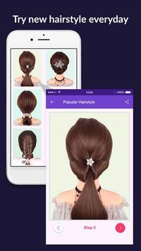 Hairstyles step by step easy, offline - DIY screenshot 2