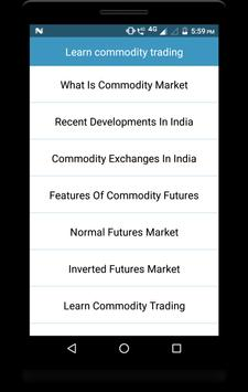 Learn commodity trading screenshot 1