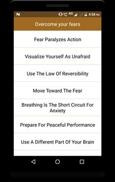 Overcome your fears screenshot 1