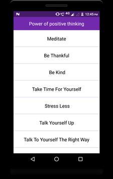 Power of positive thinking screenshot 1