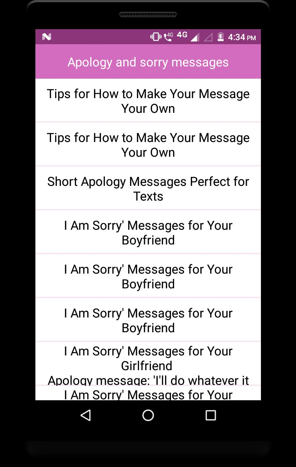 Him sorry messages for Top 50