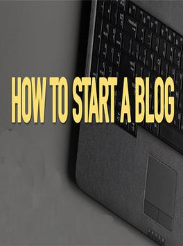 How to start a blog poster