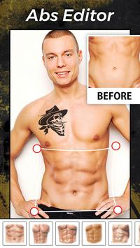 Six Pack Abs Photo Editor For Boys, Girls & Kids poster