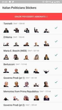 300+ stickers of Italian politicians for Whatsapp screenshot 1