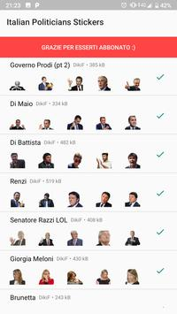 300+ stickers of Italian politicians for Whatsapp screenshot 2