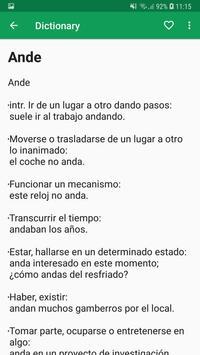 Spanish Dictionary Offline screenshot 14