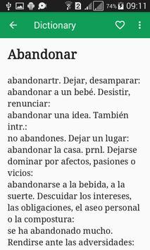 Spanish Dictionary Offline screenshot 2